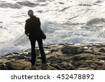 angler  fisherman in... | Shutterstock . vector #452478892