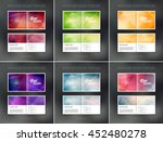 vector abstract brochure design ... | Shutterstock .eps vector #452480278
