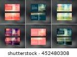 vector abstract brochure design ... | Shutterstock .eps vector #452480308