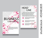 vector brochure flyer design... | Shutterstock .eps vector #452481835