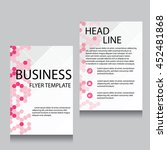 vector brochure flyer design... | Shutterstock .eps vector #452481868