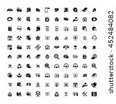 set of 100 universal icons.... | Shutterstock .eps vector #452484082