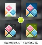vector flyer design templates... | Shutterstock .eps vector #452485246
