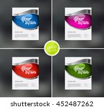 vector flyer design templates... | Shutterstock .eps vector #452487262