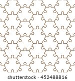 seamless hexahedron puzzle...   Shutterstock .eps vector #452488816