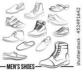 set of men's shoes painted... | Shutterstock . vector #452491642