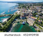 aerial view of ouchy waterfront ... | Shutterstock . vector #452493958