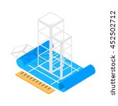 building construction plan icon ... | Shutterstock . vector #452502712