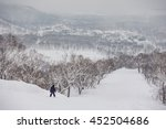 snowboarder riding down the... | Shutterstock . vector #452504686