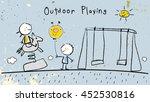 children  group of kids ...   Shutterstock .eps vector #452530816