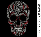 vector skull patterns and the... | Shutterstock .eps vector #452544142
