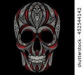 vector skull patterns and the... | Shutterstock .eps vector #452544142
