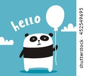cute card with panda | Shutterstock .eps vector #452549695
