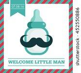 baby shower greeting card | Shutterstock .eps vector #452550886