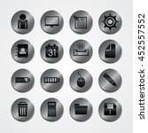 metal plate theme icon button... | Shutterstock .eps vector #452557552