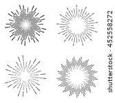 set of vintage sunburst | Shutterstock .eps vector #452558272