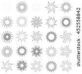 set of vintage sunburst | Shutterstock .eps vector #452558842