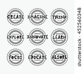 black textured line stamps and... | Shutterstock .eps vector #452560348