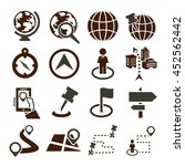 location  place icon set | Shutterstock .eps vector #452562442