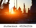 oil drilling exploration  the... | Shutterstock . vector #452562526