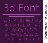 volumetric font  3d line letter ... | Shutterstock .eps vector #452580856