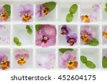 Closeup Edible Flowers And Min...