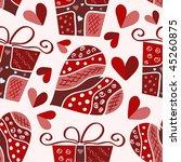 vector valentine seamless pattern