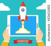 successful startup business... | Shutterstock .eps vector #452621002