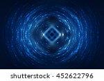 abstract fractal blue... | Shutterstock . vector #452622796