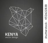 kenya black vector triangle map ...   Shutterstock .eps vector #452622838