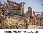 belchite is an ancient town in... | Shutterstock . vector #452627836