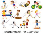 people doing different kinds of ... | Shutterstock .eps vector #452634952