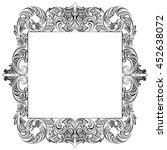 vintage imperial baroque rococo ... | Shutterstock .eps vector #452638072