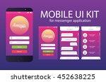 messenger application template. ...