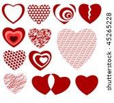 lots of heart designs   Shutterstock .eps vector #45265228