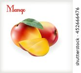 ripe mango on the white | Shutterstock .eps vector #452666476