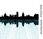 london skyline with perspective ... | Shutterstock .eps vector #45267205