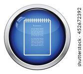 binder notebook icon. glossy... | Shutterstock .eps vector #452672392