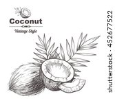 vector background with  coconut ... | Shutterstock .eps vector #452677522