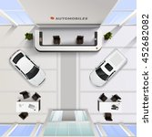 isometric top view office... | Shutterstock .eps vector #452682082
