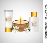 therapy with spa treatment icon ... | Shutterstock .eps vector #452695696
