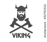 bearded viking helmet and... | Shutterstock .eps vector #452701522