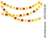 colorful bunting and garlands... | Shutterstock .eps vector #452702635