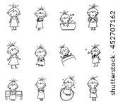 Cute Girl Cartoon Drawing In...