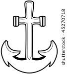 anchor isolated on a white... | Shutterstock . vector #45270718