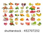 callection of fruits on white... | Shutterstock . vector #452707252