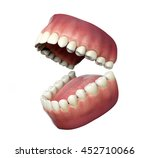 human teeth opening close up... | Shutterstock . vector #452710066