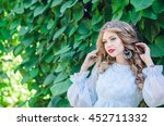 close up portrait of young... | Shutterstock . vector #452711332
