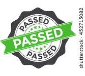 passed stamp vector on white... | Shutterstock .eps vector #452715082