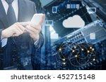 double exposure of professional ... | Shutterstock . vector #452715148